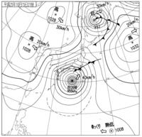 2013年10月15日21時 天気図
