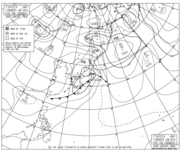 気圧配置予想図 2014年6月12日9時