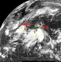 2011年6月23日15時現在 台風4号&5号