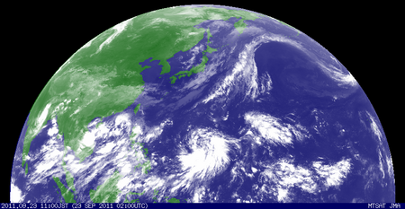 2011年9月23日11時 ひまわり赤外線画像