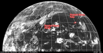 2013年9月3日6時 ひまわり7号赤外線画像
