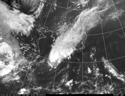 2013年9月3日18時 ひまわり7号赤外線画像