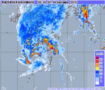 気象レーダー 2013年9月4日0時