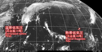 2013年9月4日9時 ひまわり7号赤外線画像