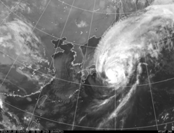 2013年10月16日3時 ひまわり7号赤外線画像