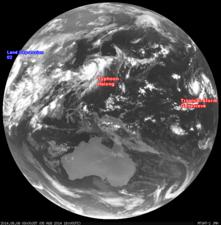 2014年8月6日3時 ひまわり7号赤外線画像